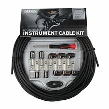 D'Addario Planet Waves DIY Solderless Instrument Guitar Cable Kit 40 ft 10 plugs