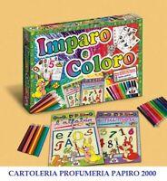 Gioco da tavola IMPARO E COLORO 2 Album (Numeri e lettere) con Colori inclusi!