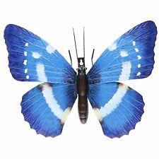 Giant Metal 3D Blue Butterfly Garden/Home Wall Art Ornament 5x24x32cm