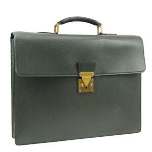 LOUIS VUITTON SERVIETTE MOSKOVA BUSINESS HAND BAG EPICEA TAIGA AK45563b