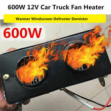 12V Portable 800W Car Dual Heating Heater Fan Vehicle Car Defroster Demister US
