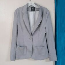 Cotton on Outer Wear Gray Blazer Jacket Size M Collar Long Sleeve 2 Pockets 1964