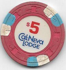 Cal Neva Lodge $5.00 Casino Chip Lake Tahoe Nevada
