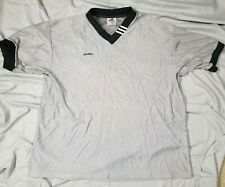 ADIDAS Poly Nylon Collared Soccer Jersey Sz Large Vtg