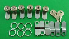 """RV Motorhome Trailer Storage 5/8"""" Door Cam Lock Set Of 6 18-3310-6"""