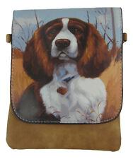 Dog Slim Cross body Bag - Springer Spaniel - Brown