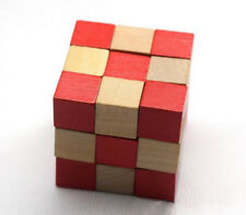 Six Sided Cube Wooden Puzzle Secret Box Can be Change Shape Toy Kongming Lock