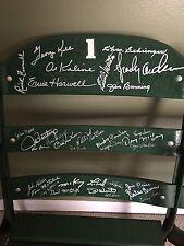 Detroit Tiger / Briggs Stadium Seats - 127 Autographs Kaline / Kell / Gehringer