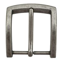 M881 Toneka Classic Antique Silver Plated Single Prong  Buckle (Belt 38mm)
