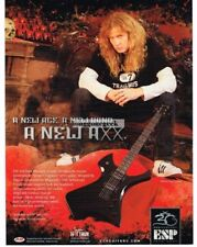 2005 Esp Axxion Signature Series Electric Guitar Dave Mustaine Vtg Print Ad
