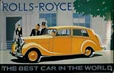 Rolls Royce (Yellow Car) embossed steel sign (hi 3020)