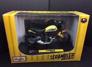 Ducati Maisto Model Motorcycle Model Bike Scrambler Icon Yellow 1:18 New