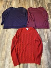 Lot of 3 Sparkly Women's Sweaters- Size L