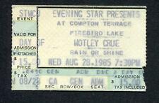 1985 Motley Crue concert ticket stub Chandler AZ Theatre Of Pain Tour