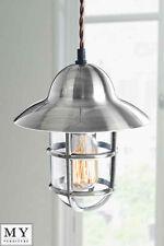 MY-Furniture Industrial Chrome Pendant Light - Tristan