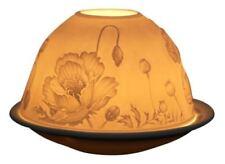 Deko-Kerzenteller & -tabletts aus Porzellan mit Blumen