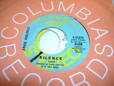 Rock Promo NM! 45 JAKE HOLMES Silence on Columbia (promo)