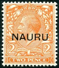 NAURU-1923 2d Orange Sg 16 LIGHTLY MOUNTED MINT V26262