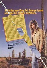 George Lynch UK 'Guitarist' Trade Press advert