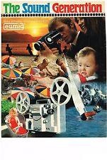 PUBLICITE  1970   EUMIG caméra THE SOUND GENERATION