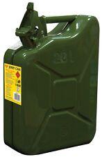 Green Heavy Duty Steel Metal 20 Lit Jerry Can (Cars Fuel, Petrol, Diesel, Water)