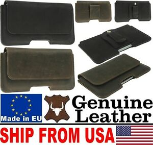 # PIANO GENUINE LEATHER BELT POUCH CASE COVER WITH CLIP LOOP FOR MOBILE PHONES