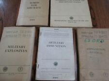 5 Army Technical manuals Ammunition, Explosives, Bombs, Artillery Tm 9-1901