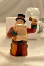 """Dept 56 Heritage Village Collection Rare """"Town Crier"""" Hinged Box w/ Horn #58433"""