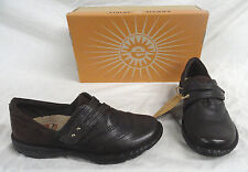 EARTH SPIRIT CARI, WOMENS BROWN LEATHER SLIP-ON CASUAL SHOES, SIZE 6, NEW