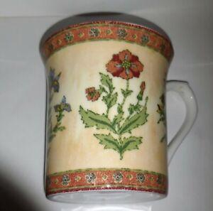 Queens Fine Bone China Coffee tea Mug in flora pattern