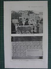 1917 WWI WW1 PRINT ~ SOLDIERS PROTEST AGAINST MILK PRICES ~ SUGAR TICKETS CO-OP