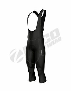 Zimco Winter Cycling Bib Tight Thermal 3/4 Bib Pants Bike Knickers Padded Black