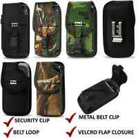 Fitted Rugged Phone Case Metal Belt Clip Holster Pouch FOR  Samsung U365 Gusto 2