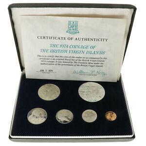 Biritish Virgin Islands - 1974 Coinage Set - Proof