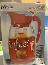 New listing Primula Flavor It Infusion Pitcher Red Beverage Infuser Dispencer 2.9 Qt Pitcher