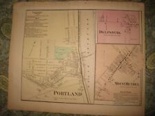 Antique 1874 Portland Delpsburg Mount Bethel Northampton County Pennsylvania Map