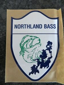New Vintage Fishing Sticker - Northland Bass - 3 1/4 x 5 inch