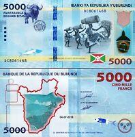 Burundi 5000 Francs 2018 (2019), UNC, P-New, New Date