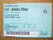 Billete de la UEFA Europa Liga-HJK v Athletic Bilbao, 30 de agosto, 2012