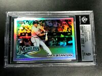 GIANCARLO MIKE STANTON 2010 TOPPS CHROME UPDATE #CHR20 REFRACTOR ROOKIE RC BGS 9