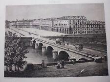 gravure  19°: Italie:Piémont, Turin : d'après la photo de Dusacq et Cie