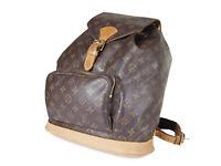 Louis Vuitton Montsouris GM Monogram Canvas Leather Backpack Bag M51135