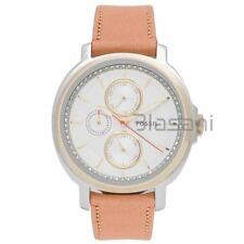 Fossil Original ES3523 Women's Chelsey Tan Leather Watch 39mm Multifunction
