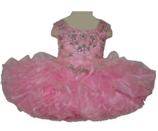 Little Girls Short Pageant Dress Toddler Ball Gowns Baby Birthday Party Cupcakes