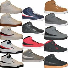 Mens Fila Vulc 13 Mid Plus Suede Leather Mid High Top Casual Athletic Shoes F13