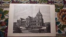1889 Druck 703 Lainz Villa Sissi Österreich