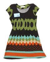 Purplish Womens Size S Geometric Wool Blend Brown Dress (Regular)