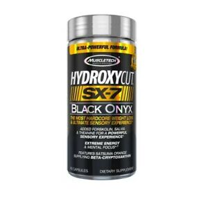 MuscleTech Hydroxycut SX-7 Black Onyx Hardcore FAT BURNER Weight LossTHERMOGENIC
