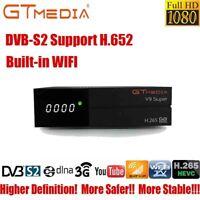 Gtmedia V9 Super fta satellite receiver H.265 DVB-S2 1080P Receptor Buit-in WIFI