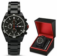 Original BMW M Chronograph Armbanduhr Schwarz Uhr Chrono Watch 80262406694